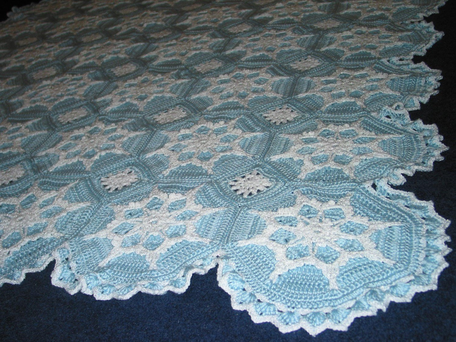 Unique Snowflake Afghan Crocheted Blanket Snow Bud S Blue Made Snowflake Blanket Of Lovely 50 Models Snowflake Blanket