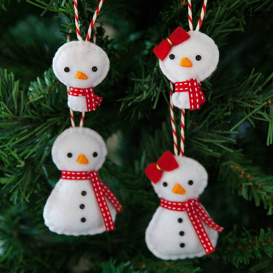 Unique Snowman Family Christmas Tree Decorations by Miss Shelly Christmas Snowman Decorations Of Adorable 41 Models Christmas Snowman Decorations