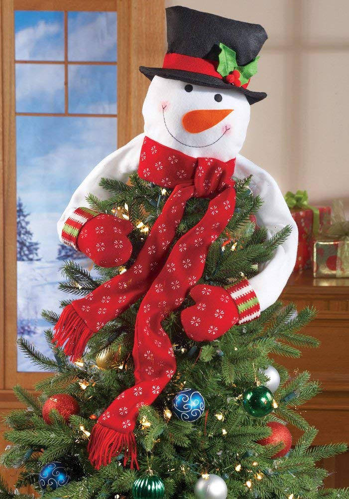 Unique Snowman Hugging Tree toppers Snowman Christmas Tree Decorations Of Adorable 46 Pictures Snowman Christmas Tree Decorations