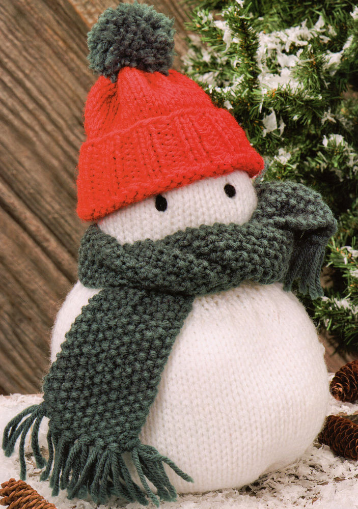 """Unique Snowman toy Xmas Decoration Doorstop 11"""" High 28cm Snowman Knitting Pattern Of Attractive 40 Images Snowman Knitting Pattern"""