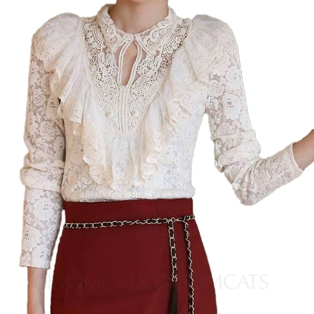 Unique Summer Ruffle Victorian Shirt Womens Crochet Blouse White Crochet Blouse Of Superb 46 Models Crochet Blouse