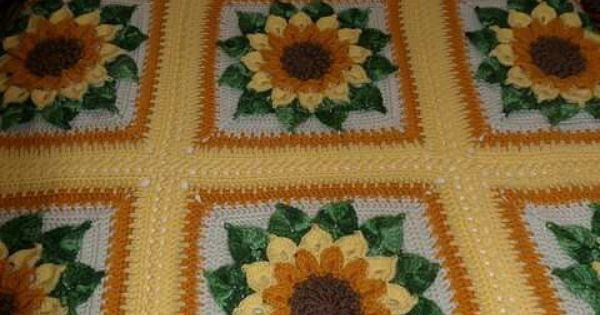Unique Sunflower Crochet Inspiration Crochet Sunflower Crochet Blanket Of Elegant Hand Crocheted Sunflower Granny Square Blanket Afghan Throw Sunflower Crochet Blanket