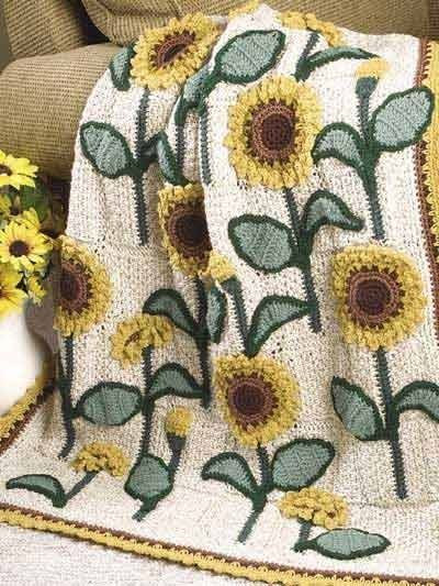 Unique Sunflowers Lap Warmer Free Crochet Pattern Crochet Sunflower Afghan Of Delightful 32 Pics Sunflower Afghan
