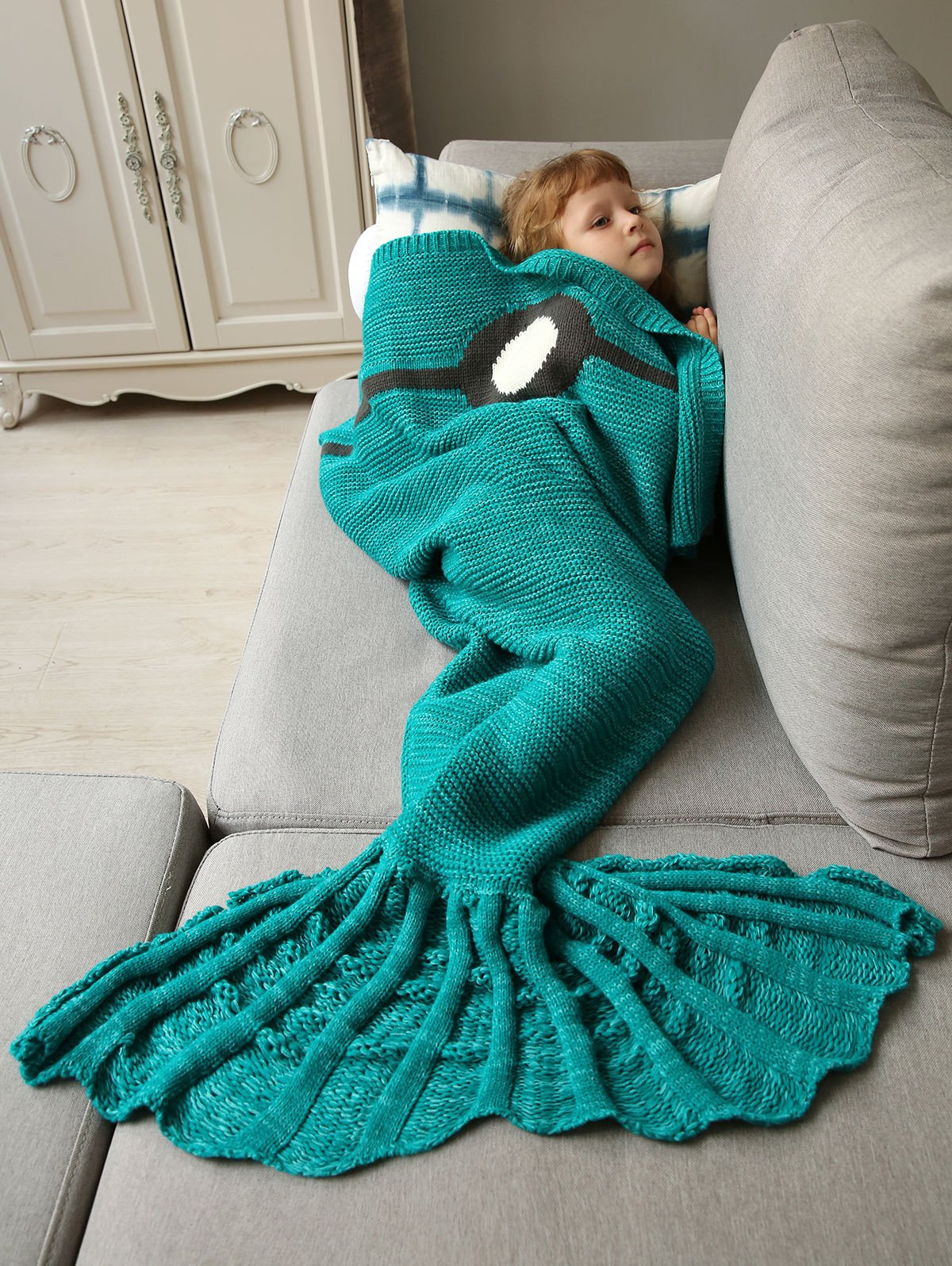 Unique Super soft Knitted Sleeping Bag Bedding Mermaid Blanket In Knitted Mermaid Blanket Of Great 41 Images Knitted Mermaid Blanket