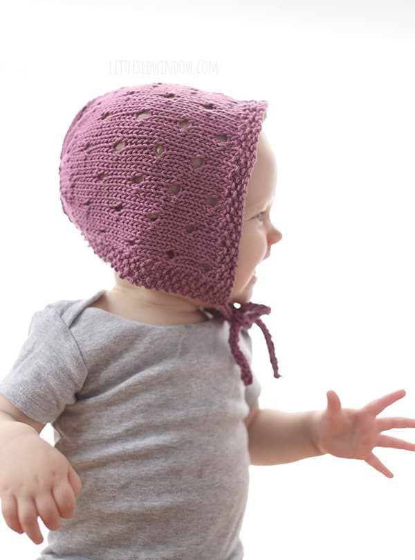 Unique Sweet Baby Bonnet Knitting Pattern Little Red Window Knitted Baby Bonnet Of Top 47 Pics Knitted Baby Bonnet