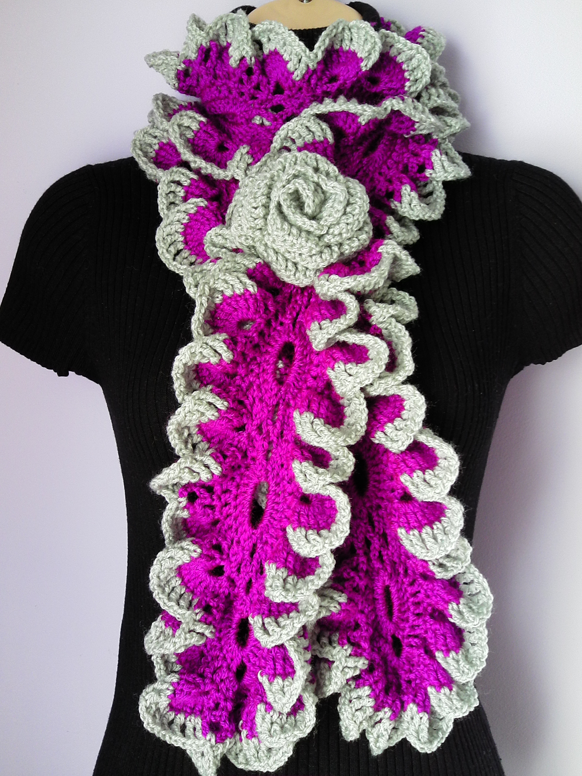 Unique Tatjanaboutique Crochet Ruffle Scarf Of Lovely 41 Models Crochet Ruffle Scarf
