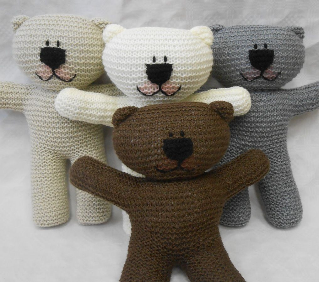 Teddy Bear easy knit Pattern suitable for beginner