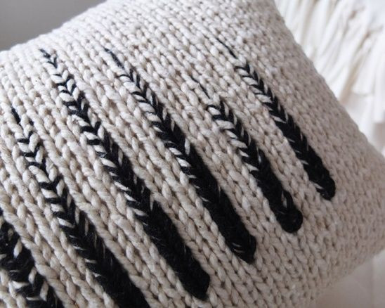 Unique the Absolutely Lovel Monochrome Knit Pillow by Kate Knit Pillow Cover Pattern Of Amazing 45 Pics Knit Pillow Cover Pattern