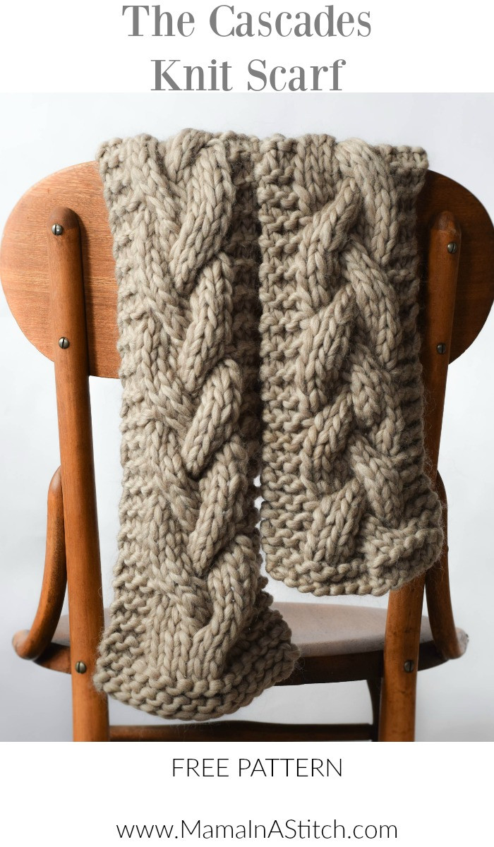 Unique the Cascades Knit Scarf – Mama In A Stitch Cable Knit Scarf Pattern Of Luxury 44 Ideas Cable Knit Scarf Pattern