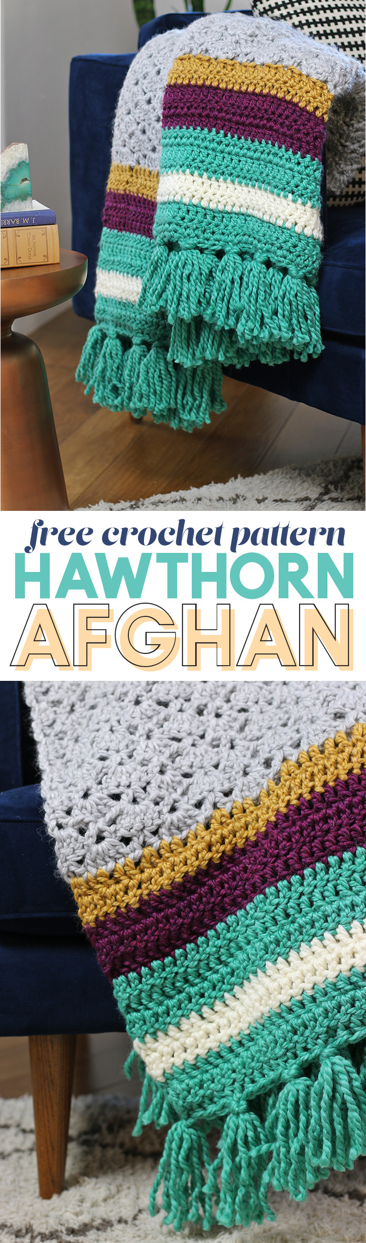 The Hawthorn Afghan Free Crochet Afghan Pattern Persia Lou