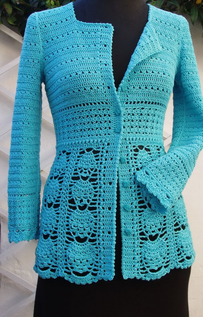 Unique This Pin Was Discovered by Lwi Lacy Crochet Cardigan Pattern Of Beautiful 46 Pics Lacy Crochet Cardigan Pattern