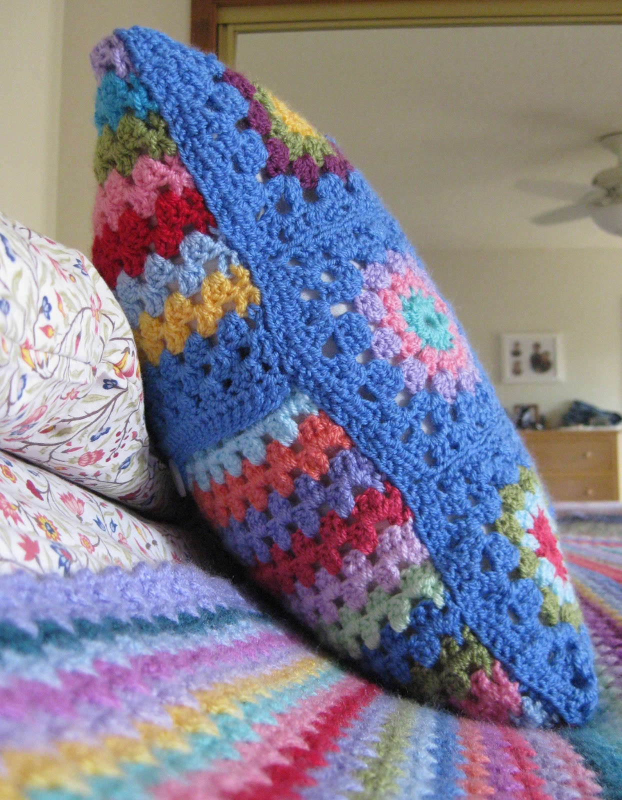Unique Thistlebear A Crocheted Pillow Cover Crochet Pillow Covers Of Incredible 47 Pics Crochet Pillow Covers