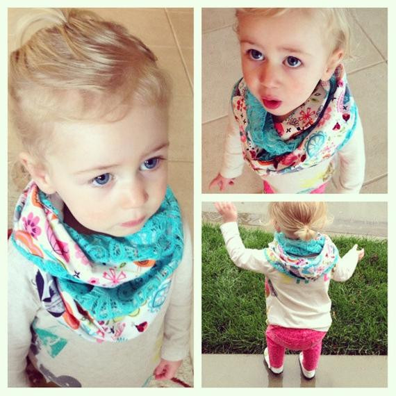 Unique toddler Infinity Scarf Child Scarf Girl Scarf Teal Lace Child Infinity Scarf Of Superb 49 Models Child Infinity Scarf