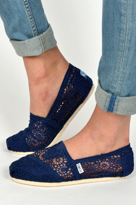 Toms Navy and Crochet on Pinterest