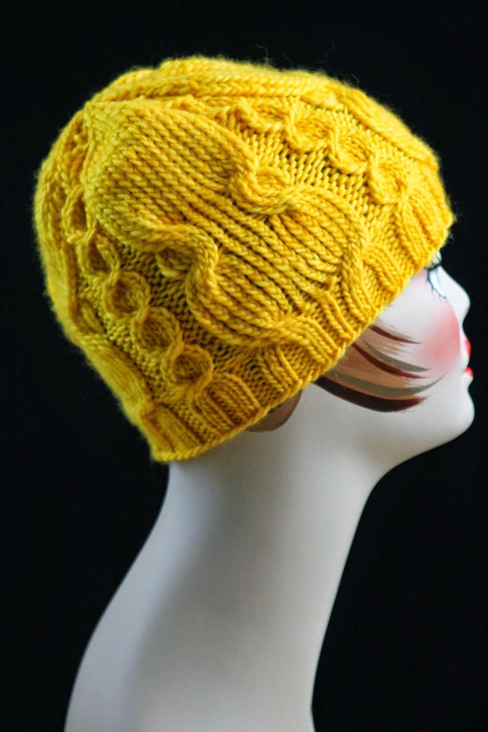 Twisted Cable Knit Hat