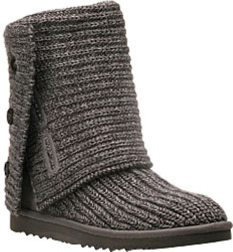 Ugg Classic Cardy Grey Crochet Boot in Gray grey