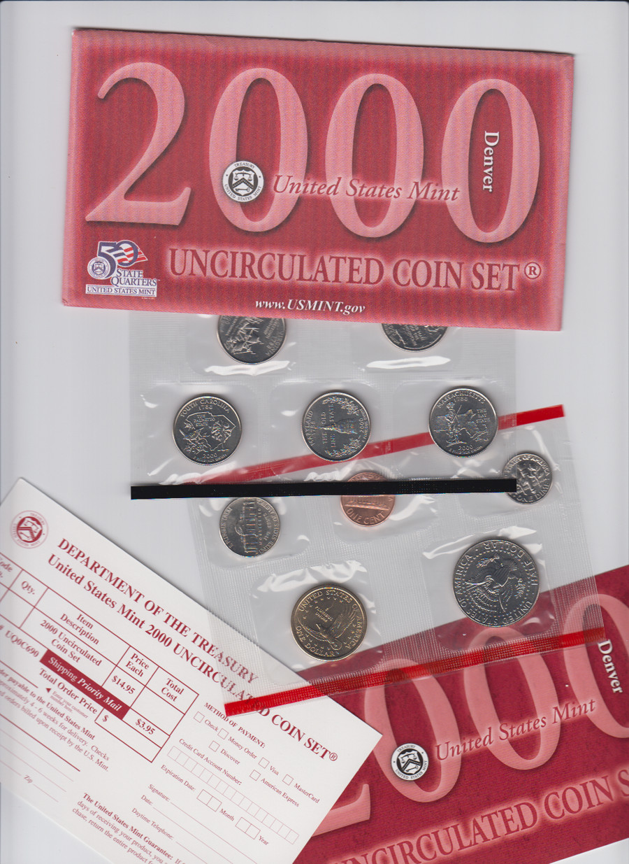 Unique Usa 10 Coins Uncirculated Set 50 State Quarters Denver U State Quarter Set Value Of Luxury Mint Statehood Quarter Errors State Quarter Set Value