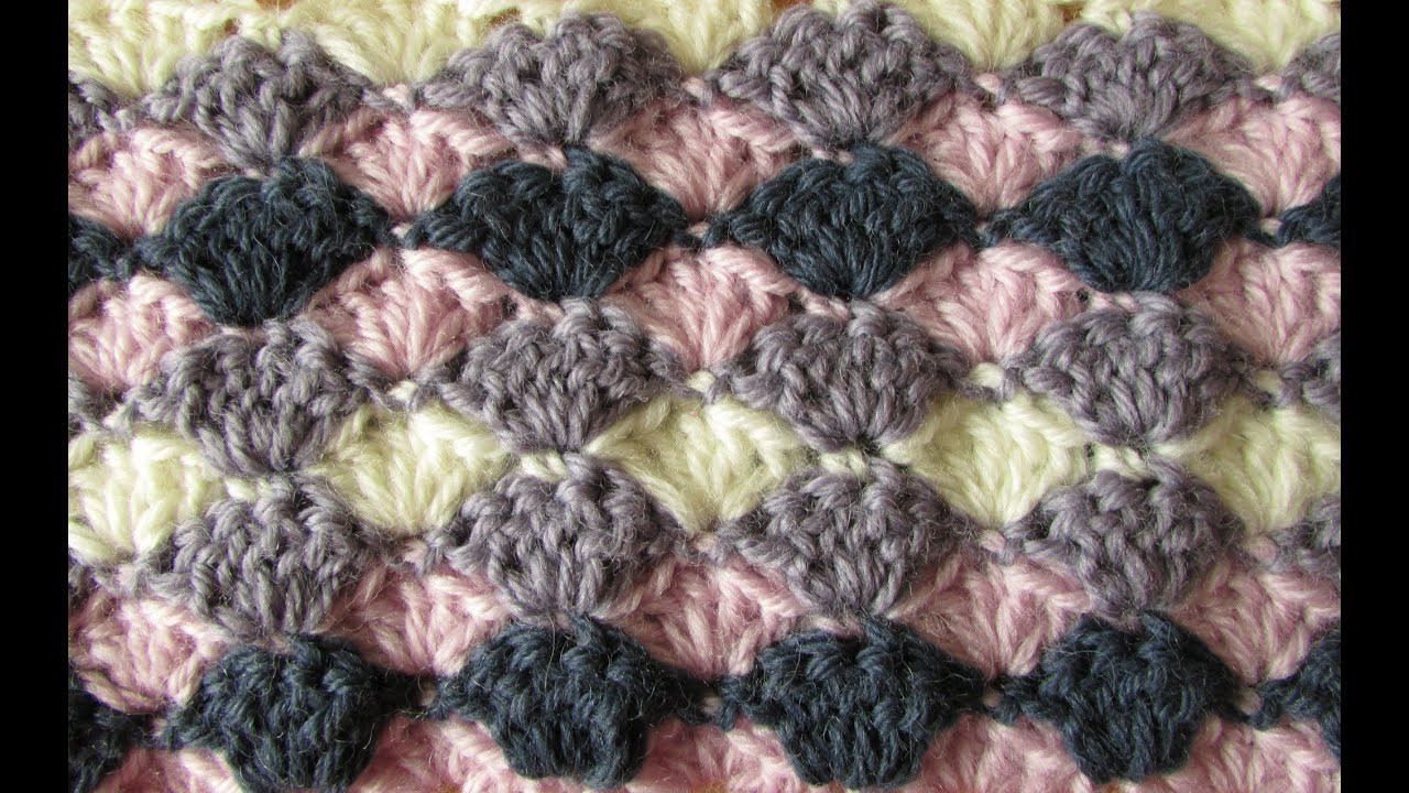 VERY EASY crochet shell stitch blanket crochet blanket