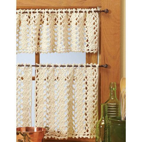 Unique Village Yarn™ Vienna Lace Valance & Curtains Crochet Yarn Kit Crochet Curtains Of Marvelous 47 Pictures Crochet Curtains