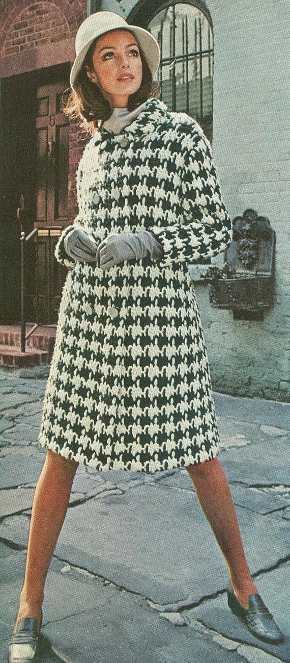 Unique Vintage 1960s Houndstooth Coat Crochet Pattern Pdf 6801 Size Crochet Jackets Patterns Of Top 44 Photos Crochet Jackets Patterns