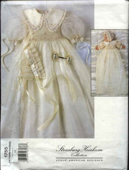 Unique Vogue Sewing Pattern 1755 Baby Infant Size 22 29 Pounds Christening Dress Patterns Of Awesome 43 Ideas Christening Dress Patterns
