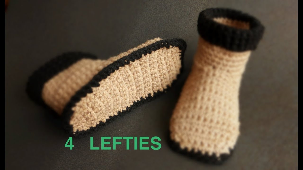 Unique Watch How 2 Crochet soles 4 Slipper Boots Part 1 2 Crochet Slippers with soles Of New 43 Photos Crochet Slippers with soles