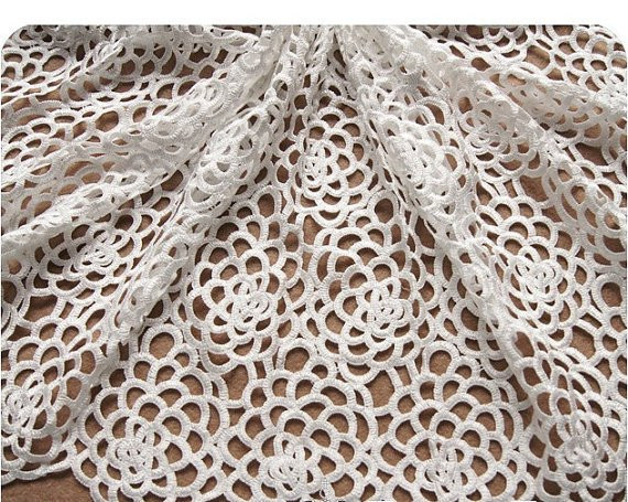 Unique White Lace Fabric Hollowed Embroidered Flowers Daisy Florals Crochet Lace Fabric Of Attractive 45 Images Crochet Lace Fabric