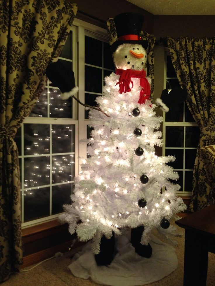 Unique White Snowman Christmas Tree Snowman Christmas Tree Decorations Of Adorable 46 Pictures Snowman Christmas Tree Decorations