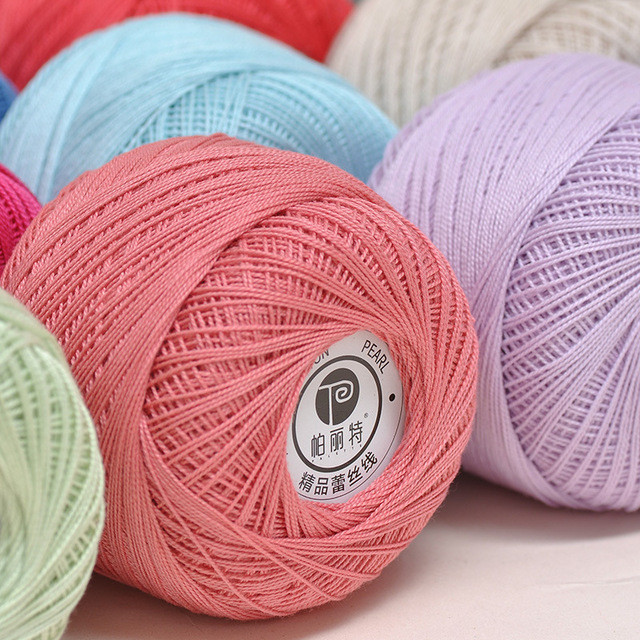 Unique wholesale Cotton Mercerized Thread Yarn 6 S 2 Lace Hand Crochet Yarn Of Delightful 43 Models Hand Crochet Yarn
