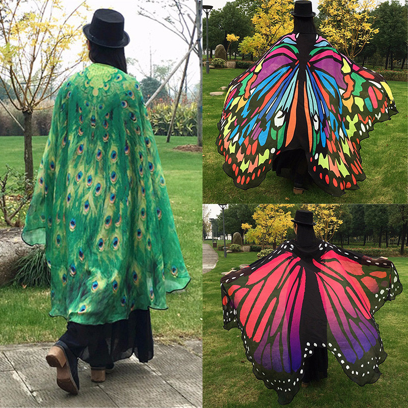Unique Women butterfly Wing Shawl Stole Scarf Wrap Cloak Costume butterfly Shawl Of Wonderful 44 Pics butterfly Shawl