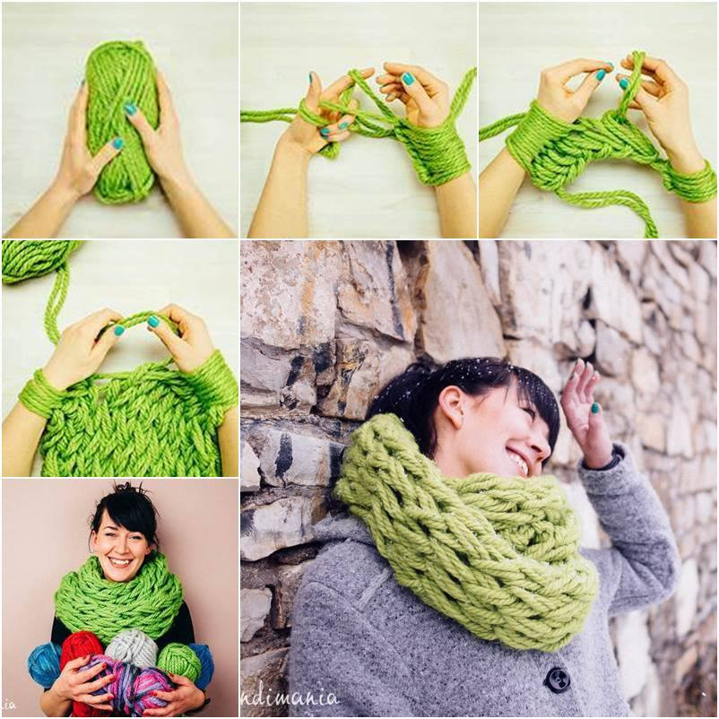 Unique Wonderful Diy Easy Arm Knitting for Beginners Easy Knit Scarf Of Marvelous 48 Photos Easy Knit Scarf