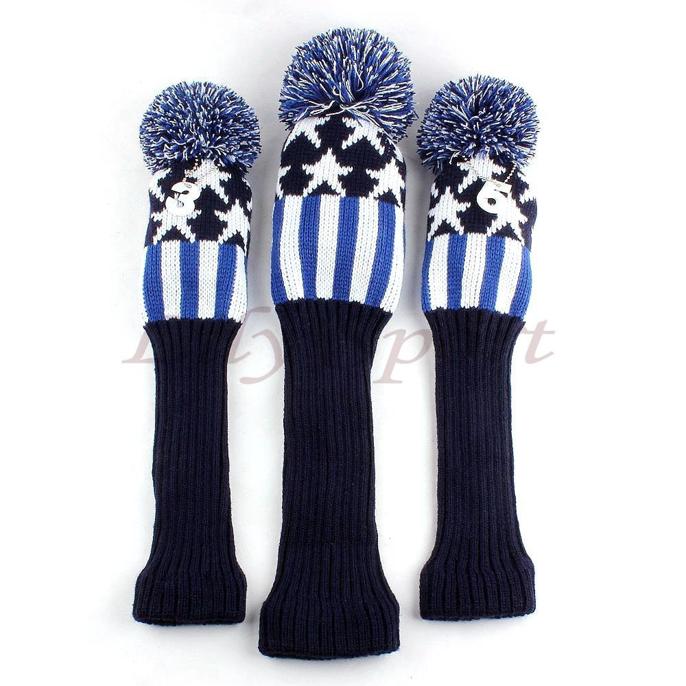 Unique Wool Knit Pom Pom Wood Headcovers for Titleist Callaway Knit Golf Headcovers Of Innovative 47 Models Knit Golf Headcovers