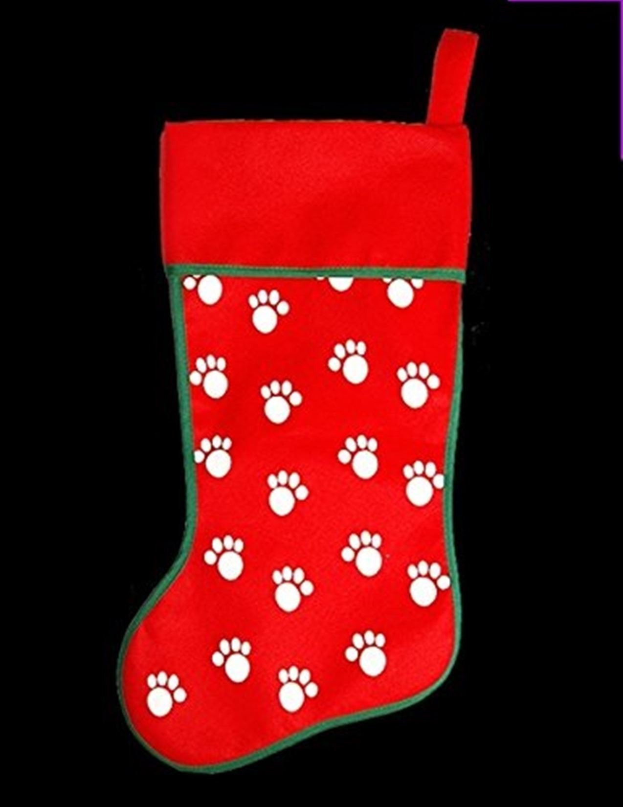 Unique Xmas Santa Pet Cute Cat Dog Paw Print Design Red Stocking Dog Paw Stocking Of Charming 44 Ideas Dog Paw Stocking
