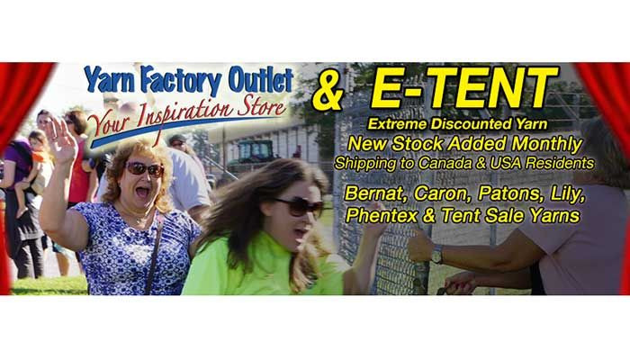 Yarn Factory Outlet Tent sales Held once a year Button