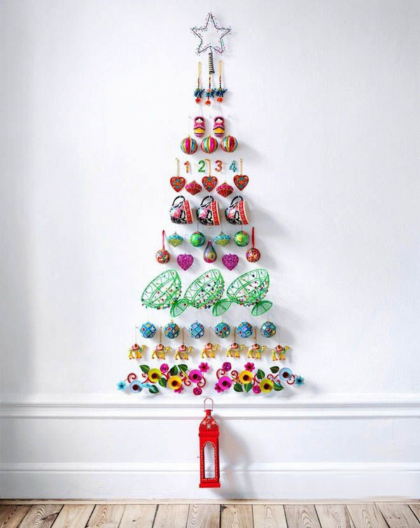 Unusual Christmas Decorations New Diy Christmas Tree Wall Decorations Of Delightful 42 Pictures Unusual Christmas Decorations