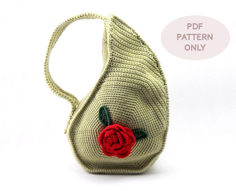 Unusual Crochet Patterns Inspirational Pdf Pattern Unique Teardrop Shape Bag Crochet Purse Of Adorable 46 Pictures Unusual Crochet Patterns