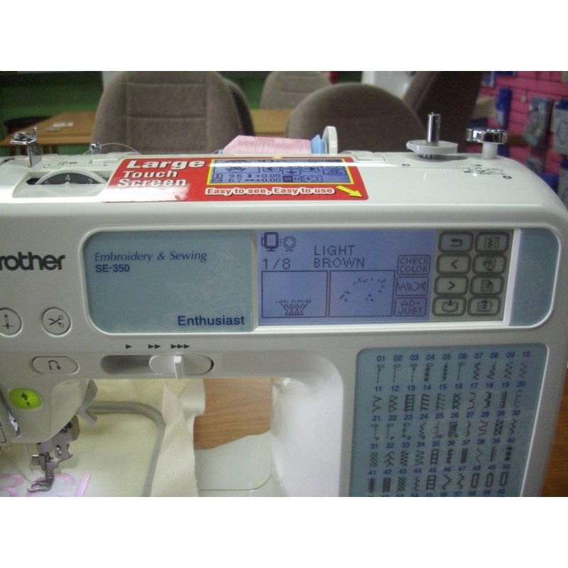 Used Brother Embroidery Machine SE350 iCanHelpSew
