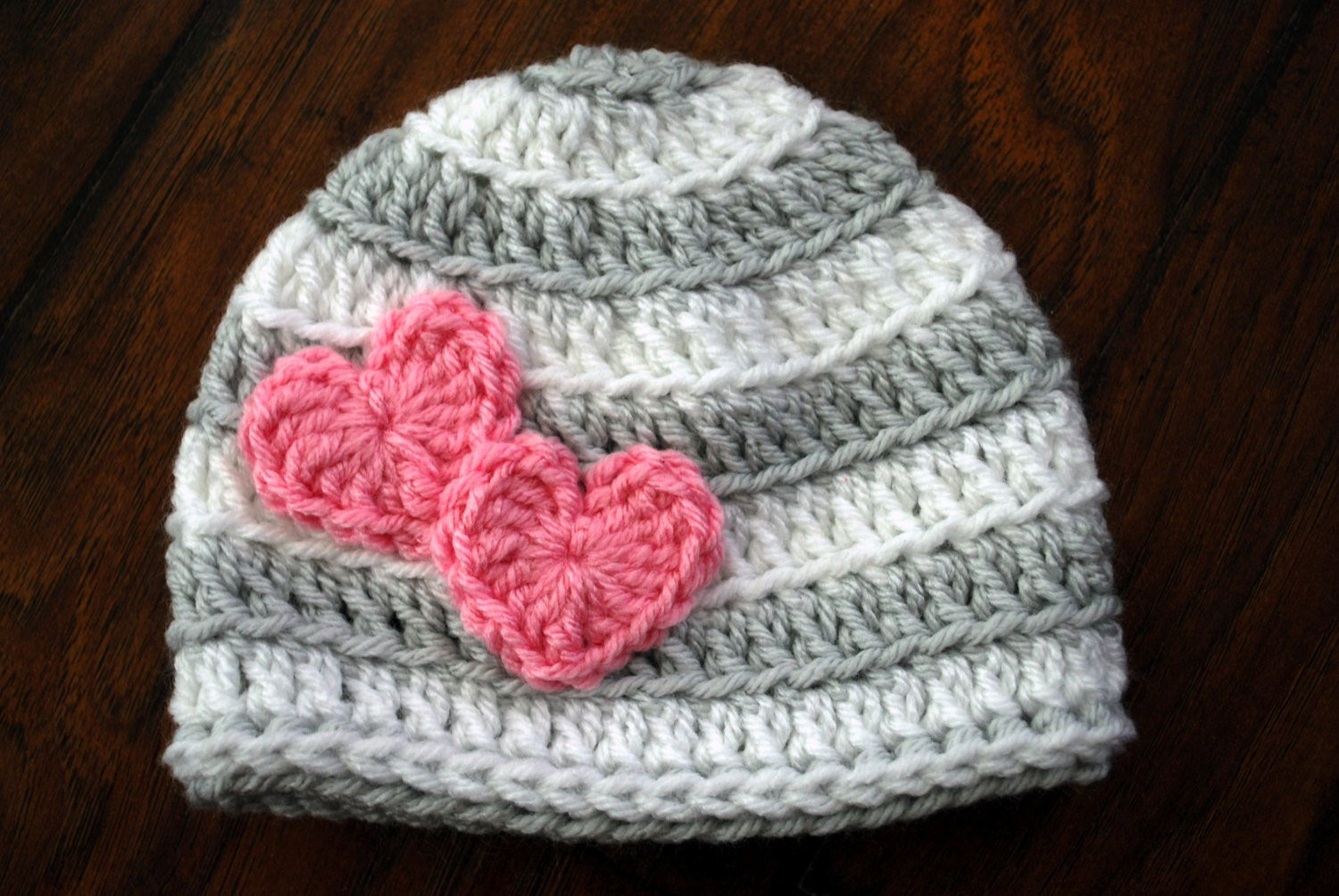 Valentine Crochet Patterns Unique Valentine Striped Crochet Hat with Hearts by Loopyslipknot Of Incredible 45 Models Valentine Crochet Patterns