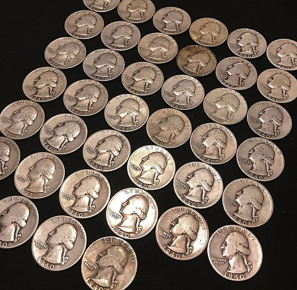 Valuable Quarters Awesome All 1940 Washington Quarter Full Roll $10 Face Value 40 Of Luxury 46 Pictures Valuable Quarters