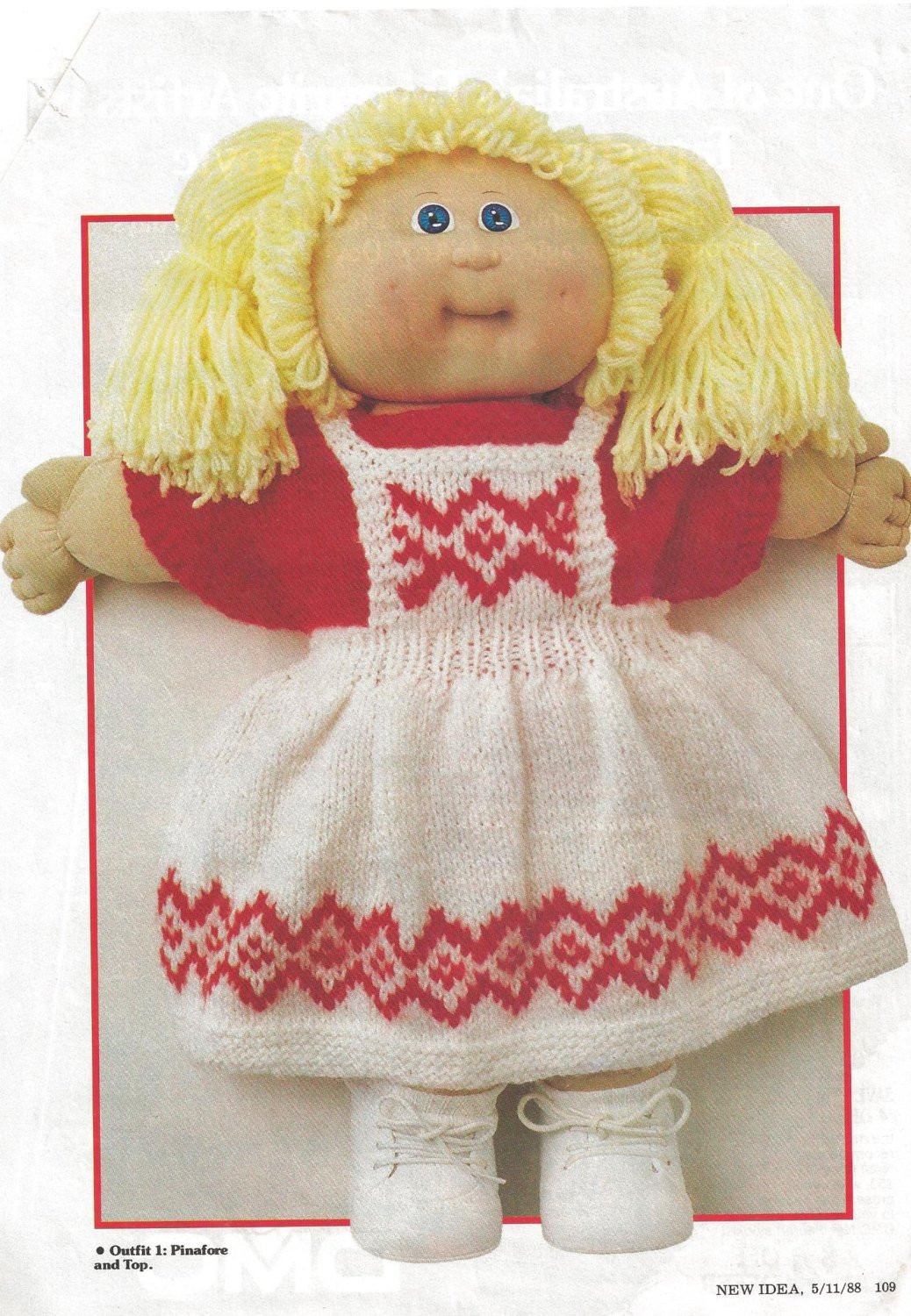 Vintage Cabbage Patch Dolls Inspirational Knitting Pattern Vintage Cabbage Patch Doll Four Outfits 1988 Of Amazing 43 Models Vintage Cabbage Patch Dolls