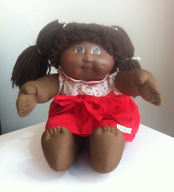 Vintage Cabbage Patch Doll African American Doll Toy