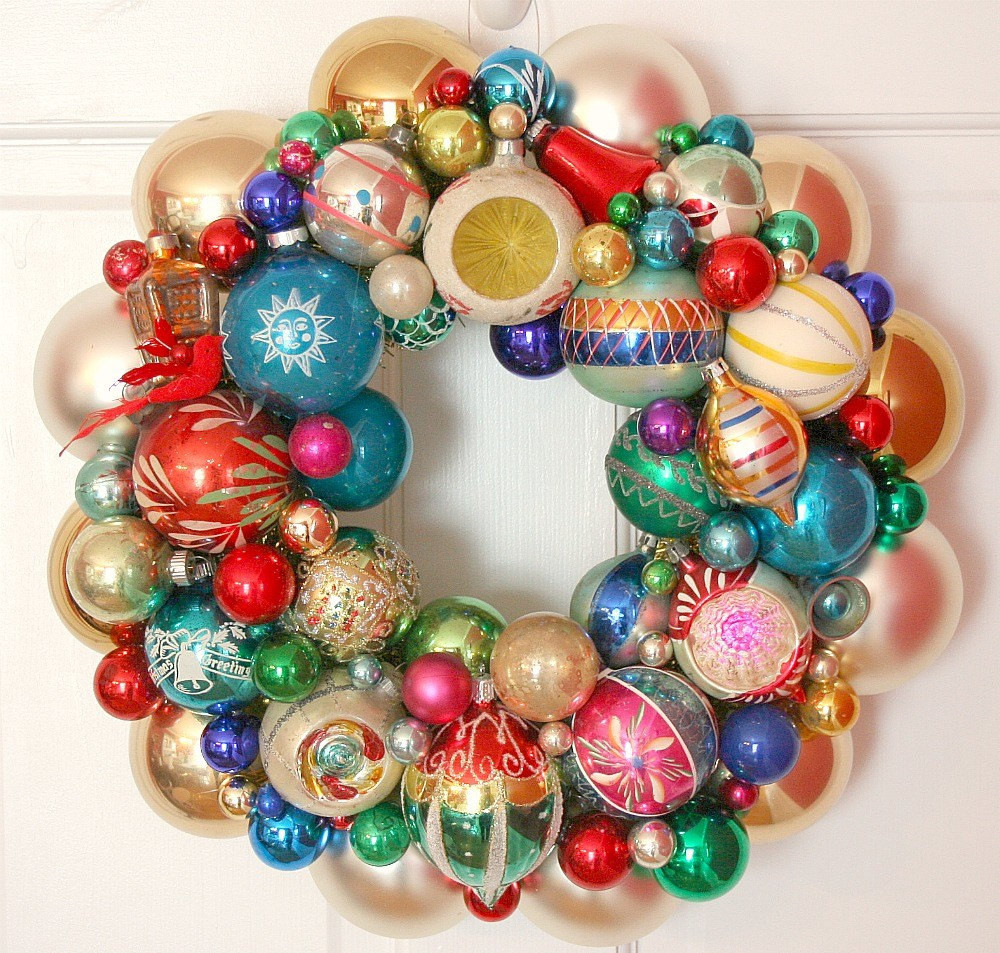 Vintage Christmas ornaments Awesome Vintage ornaments Wreath Shiny Brite Fabulous Of Lovely 43 Images Vintage Christmas ornaments