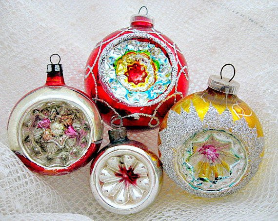 Vintage Christmas ornaments Elegant 4 Glass Christmas Vintage Indent ornaments 1950 S Of Lovely 43 Images Vintage Christmas ornaments