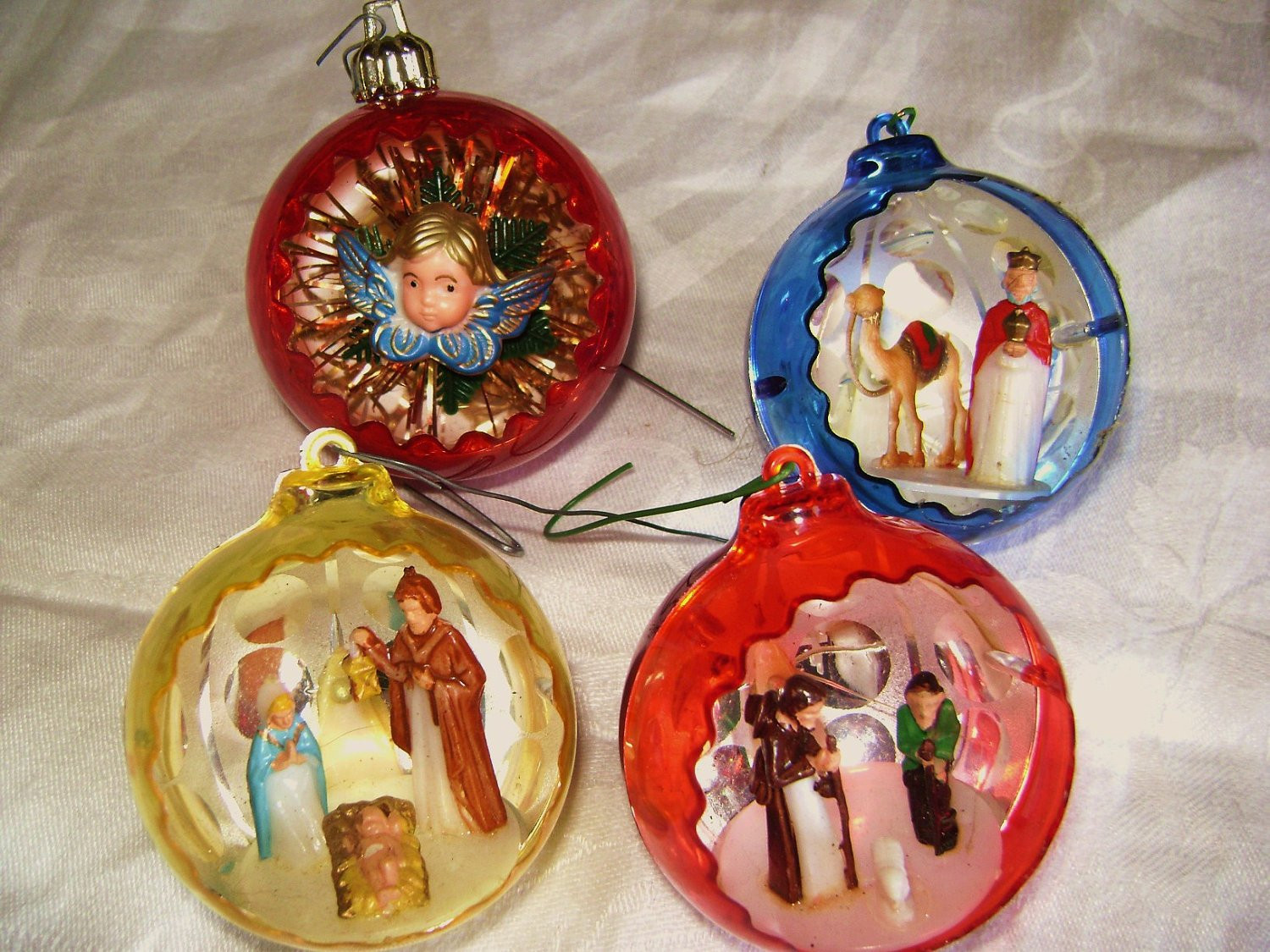 Vintage Christmas ornaments Elegant Reserved for Mairi Vintage Christmas ornament Set Of Four Of Lovely 43 Images Vintage Christmas ornaments