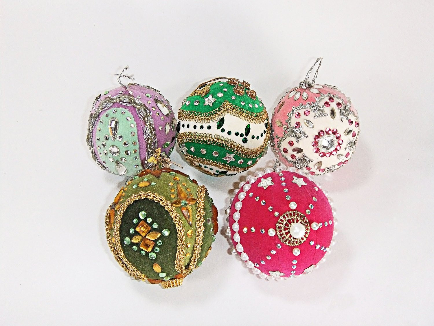Unique Vintage Christmas Tree Ornaments Handmade 70 s