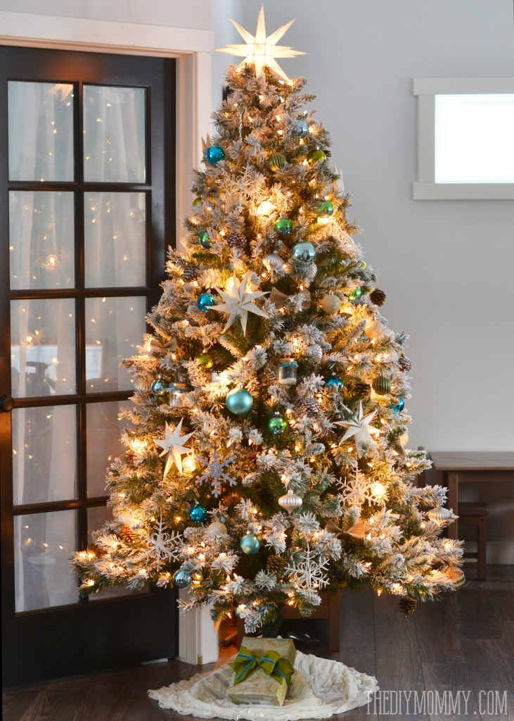 Vintage Christmas Tree Elegant Our Teal Green Silver and White Vintage Inspired Flocked Of Luxury 47 Pictures Vintage Christmas Tree