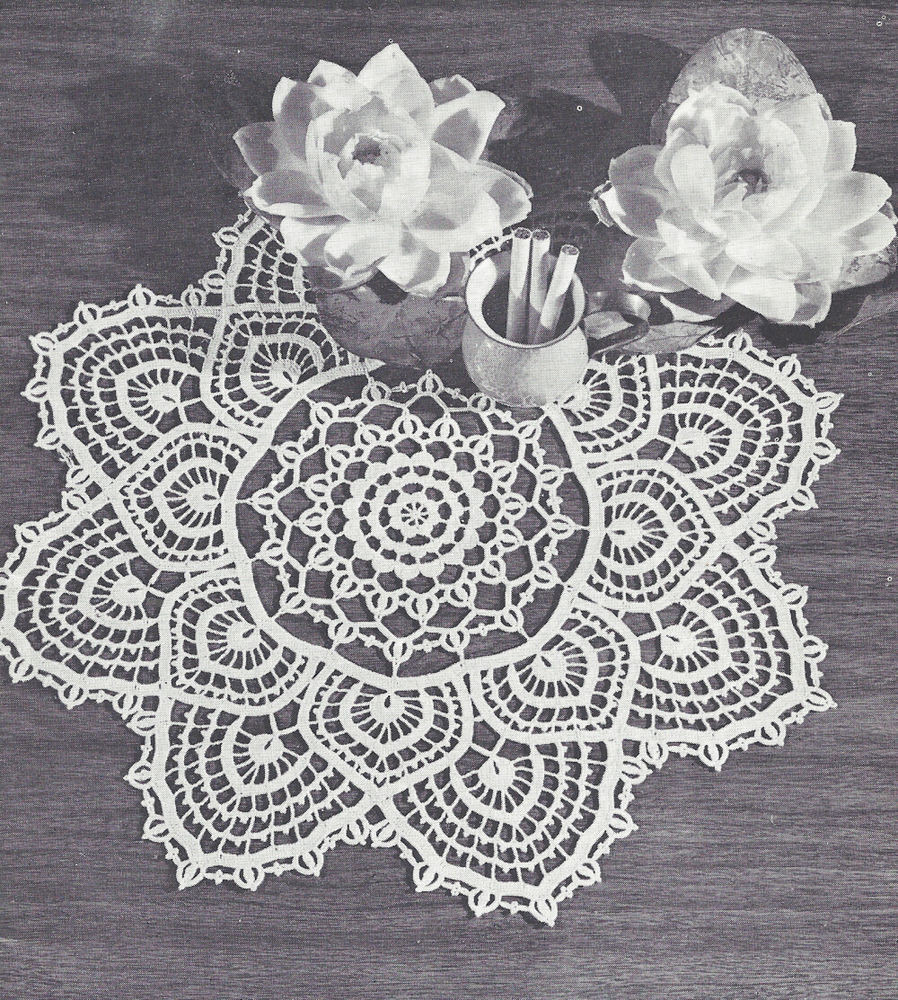 Vintage Crochet PATTERN to make Fandango Doily Centerpiece