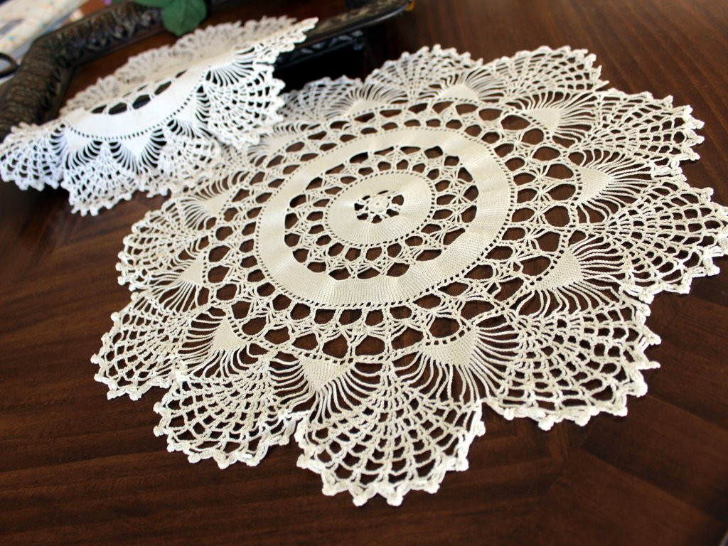 Vintage Crochet Doilies Best Of Pair Of White Doilies Vintage Crochet Doilies Of New 45 Models Vintage Crochet Doilies