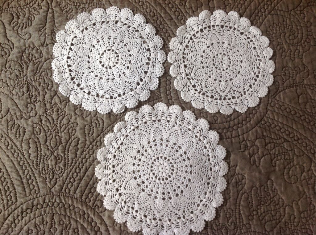 Vintage Crochet Doilies New Vintage 3 Embroidery Crochet Lace Doily Antique Doilies Of New 45 Models Vintage Crochet Doilies