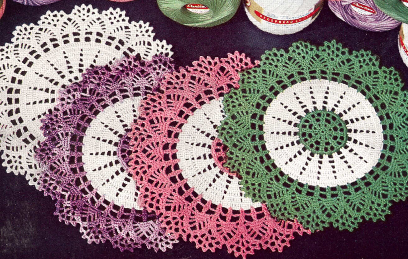 Vintage Crochet Doilies Unique Vintage Crochet Pattern to Make Thread Doily Mat Of New 45 Models Vintage Crochet Doilies
